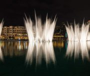 fountain show during dubai city tour