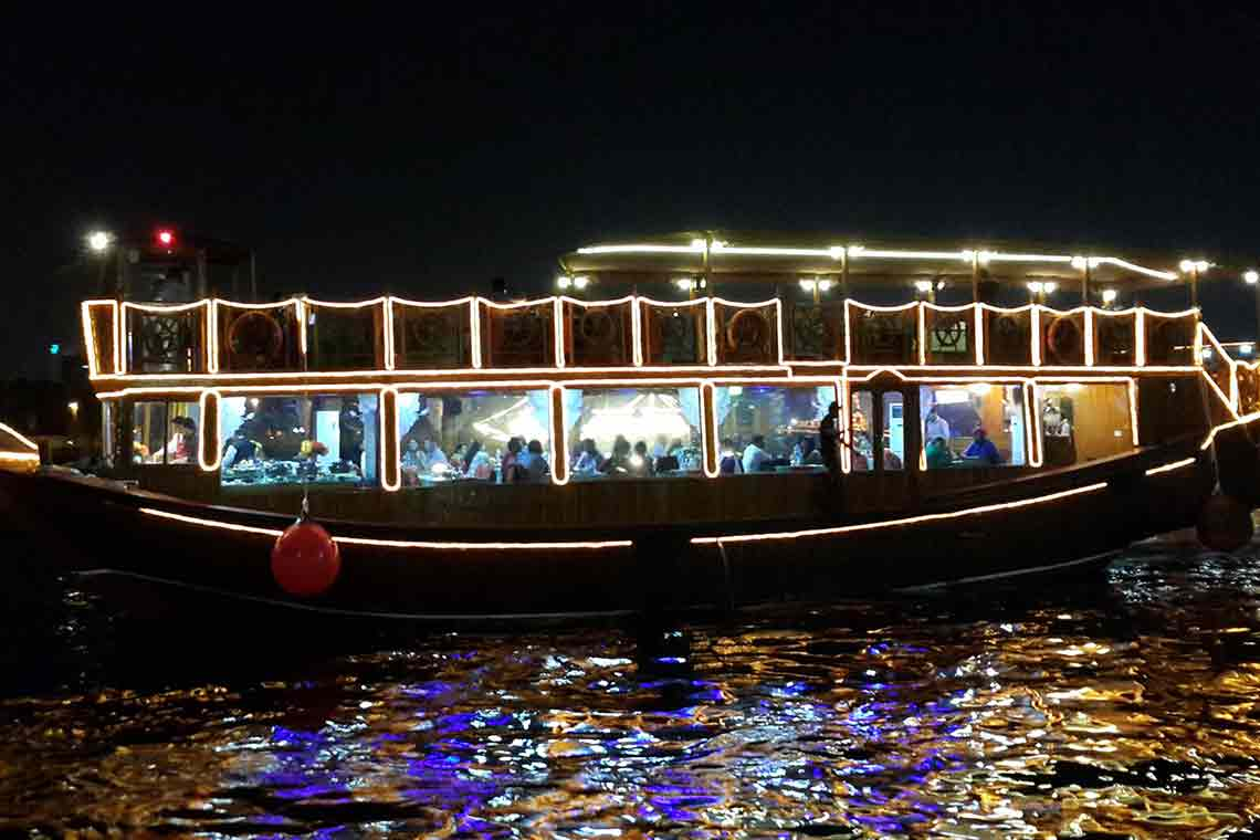 dhow cruise the most romantic floating restaurant in dubai