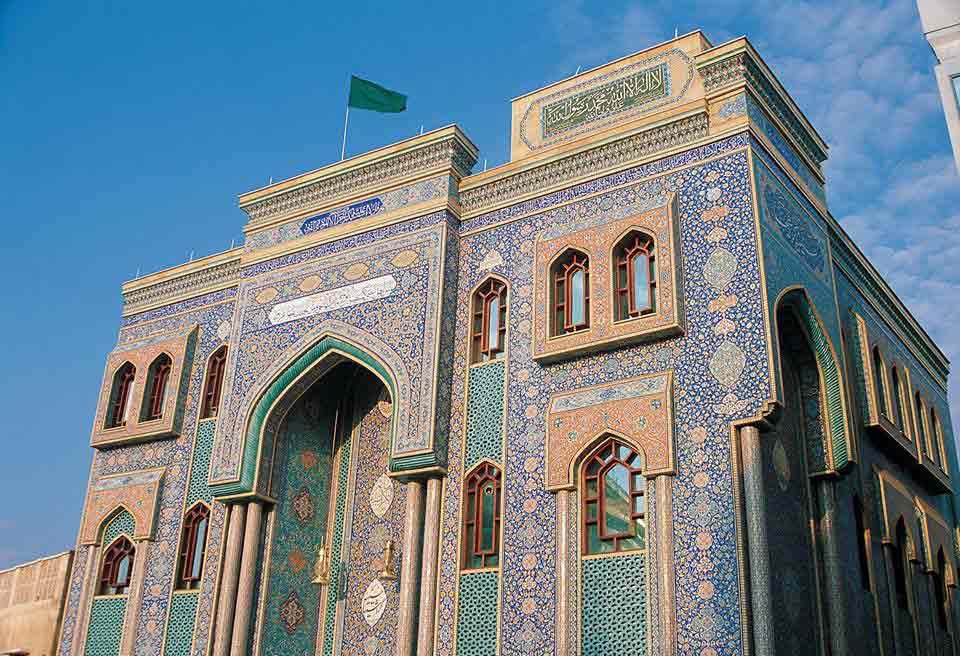 Iranian Mosque (Imam Hossein Mosque) in Bur Dubai