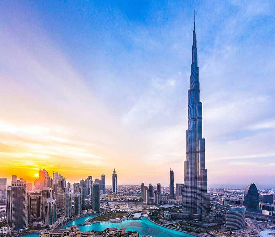 Dubai Burj Khalifa in the morning