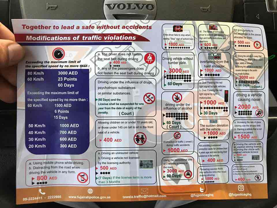 Traffic rules for the UAE images