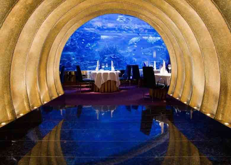 Al Mahara the best romantic restaurant for a private candle light dinner in dubai