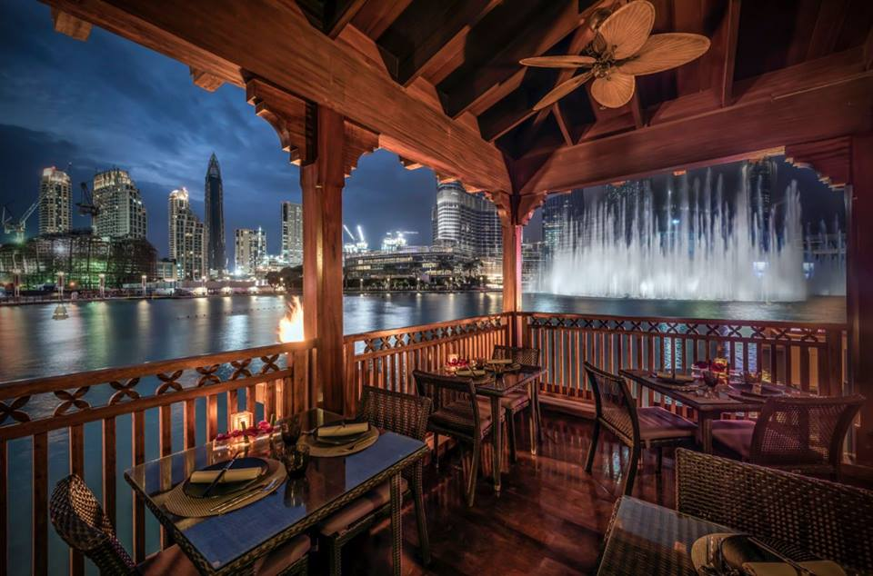 thiptara the most romantc restaurant in dubai with a view of Dubai Fountain