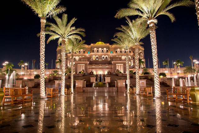 Emirates Palace in abu dhabi is a must places to visit