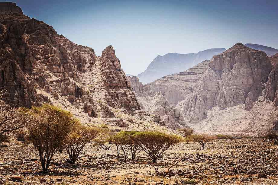 Hajar Mountains in ras al khaimah